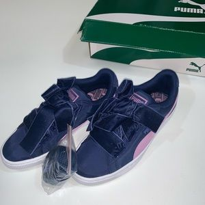 Puma navy and purple sneakers